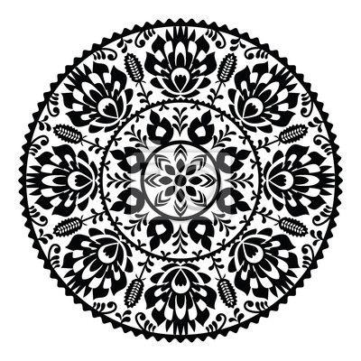 https://img.myloview.pl/naklejki/polski-tradycyjny-czarny-wzor-ludowy-w-okregu-wzory-lowickie-400-27741237.jpg