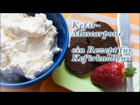 Kefir Mascarpone selber machen ein Rezept für Kefirknollen