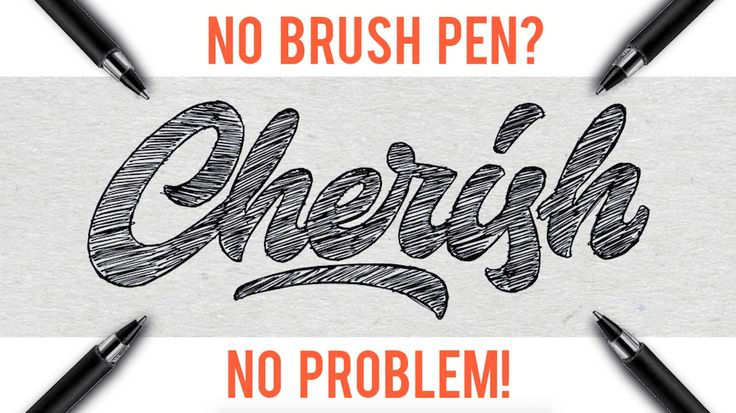hand drawn typography tutorial