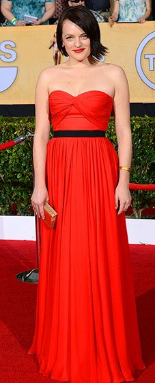 Elisabeth Moss at the 2014 SAG Awards