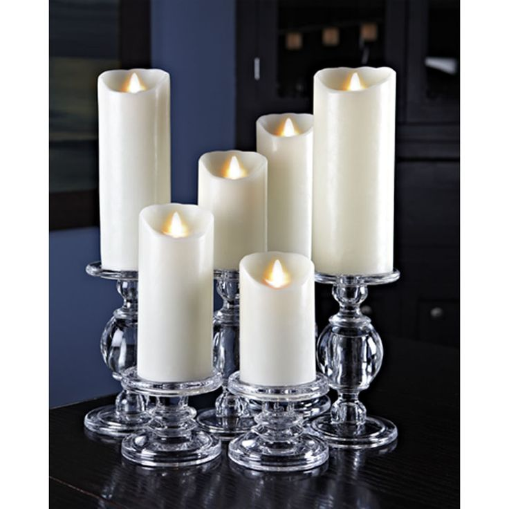"Reallite candles are battery-operated, genuine wax candles. The patented ""real flame"" appears identical to a lit candle. Find them here: http://www.ebay.ca/itm/Reallite-Real-Genuine-Wax-Flicker-Flameless-LED-Candle-Moves-Randomly-/200942131058?ssPageName=STRK:MESE:IT"