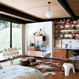 The Steinman House In Malibu California Has A Quirky And Modern Childrenu0027s  Bedroom. I Especially Love The George Nelson Marshmallow Sofa By Herman  Miller.