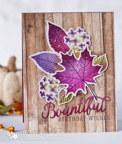 Bountiful Birthday Wishes Card by Betsy Veldman for Papertrey Ink (September 2016)