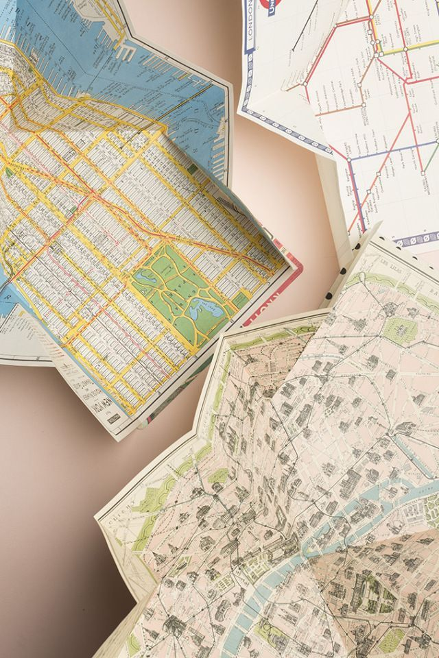 DIY travel map from wrapping paper | DIY Pappe & Papier | DIY, Diy ...