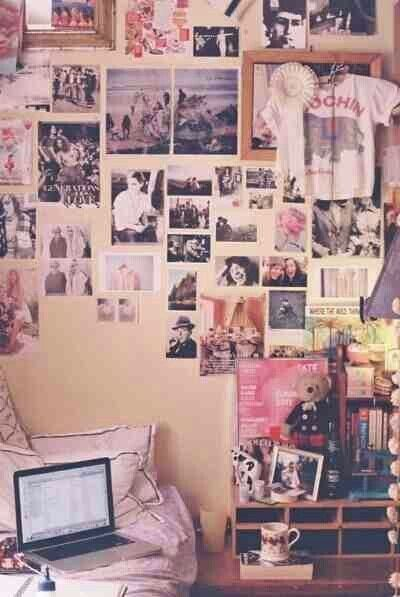 Pictures that are not spaced out uniformly. | 21 Things You Will See In Every College Dorm Room
