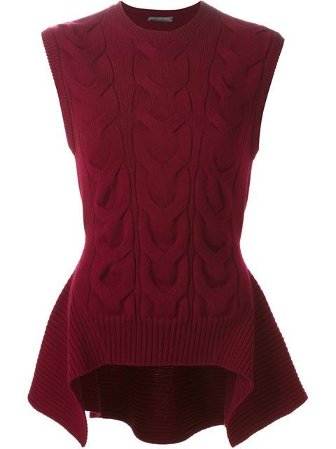 Shop Alexander McQueen cable knit peplum top in Satù from the world's best independent boutiques at farfetch.com. Shop 300 boutiques at one address.