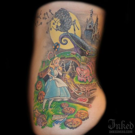 Alice in Wonderland/ Nightmare Before Christmas piece by ...