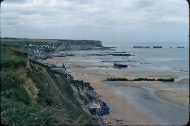 Arromanches, viewed from the east, looking west.