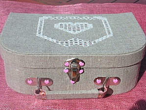 Pas à pas Valisette - Le blog de Khofra - Tutorial in French - how to make a suitcase box