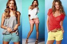 Los shorts de colores también son tendencia