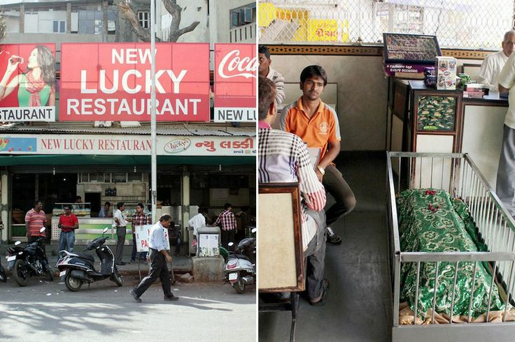 New Lucky Restaurant - where diners can eat  surrounded by coffins and apparently the dead ? Located in India