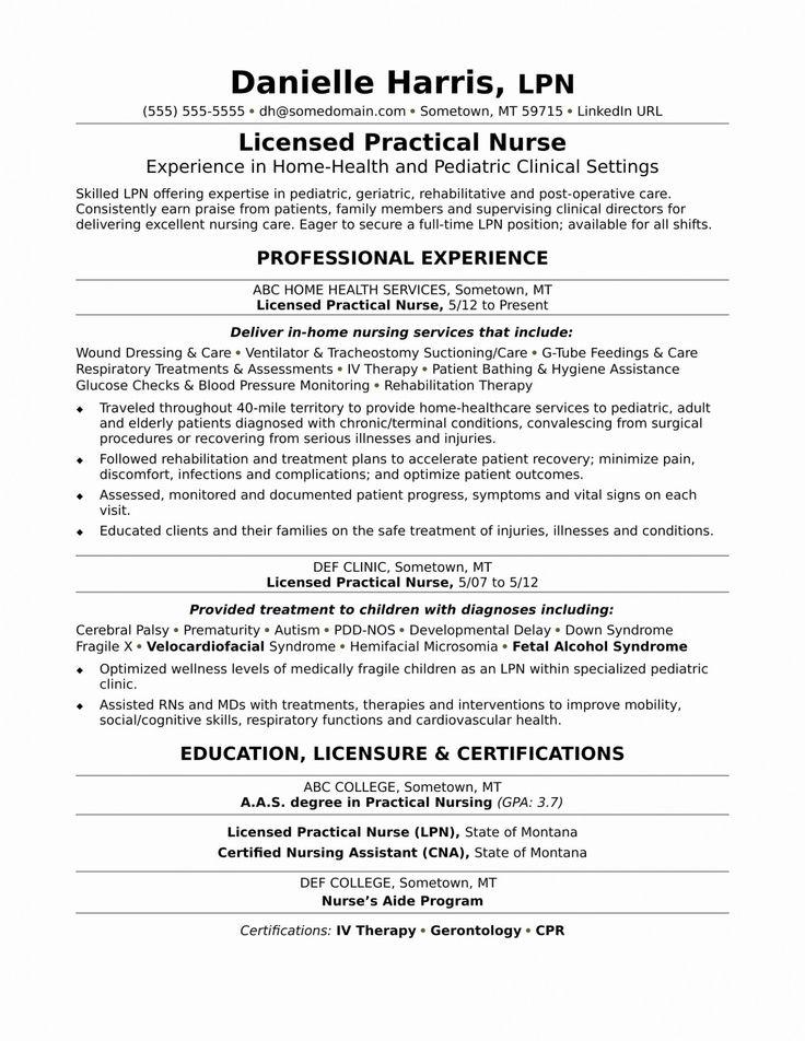 New Grad Registered Nurse Resume Sample Unique 11 Lpn