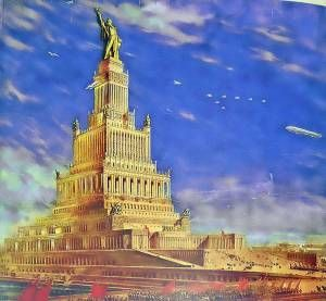 his is a plan which was envisioned for the highest building in the world, and which was scheduled to be built under the command of Stalin in the 1930s