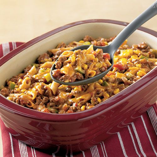 Fiesta Chili Mac - The Pampered Chef®, made this tonight. Skipped the first step as my meat was already browned. Really good flavor.