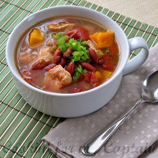 Cookin' for my Captain: Red Bean, Chicken, and Sweet Potato Soup [slow-cooker]