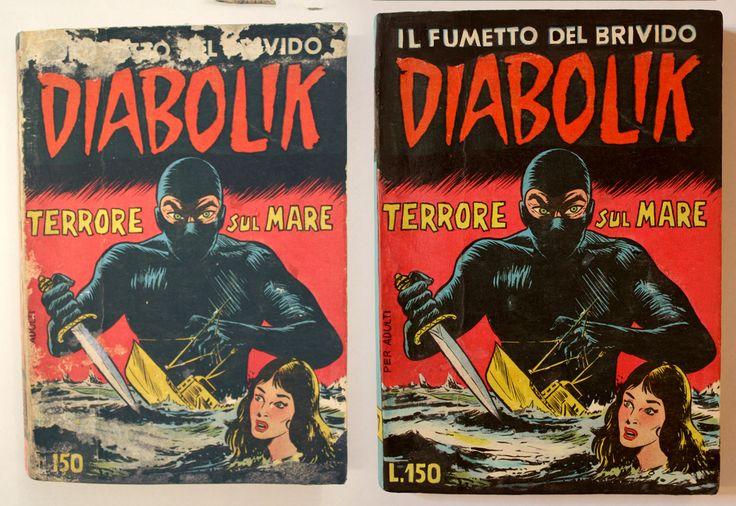 RESTAURO DIABOLIK TERRORE SUL MARE prima serie N°7  www.atelierdangelone.it