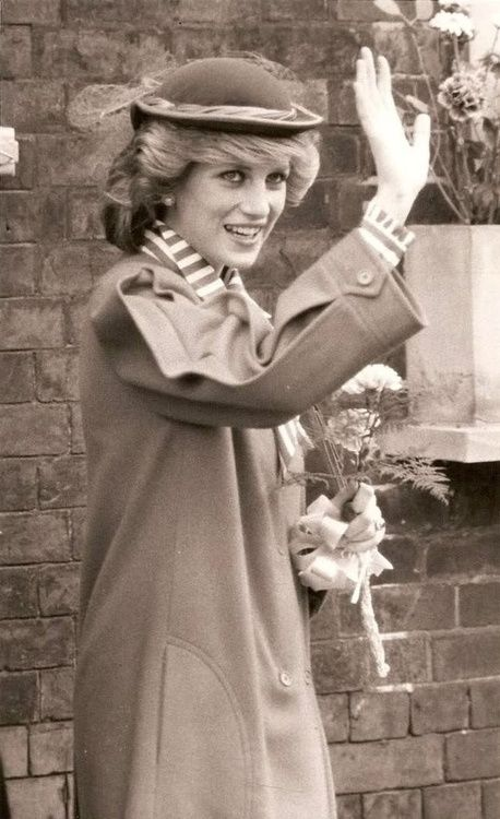 March 27, 1984:  Princess Diana leaves the new Welsh National Opera Rehearsal Studios in Cardiff, Wales.