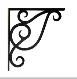 wrought iron corner brackets | Forged & Wrought Iron Brackets - Brackets & Corbels - Iron Accents