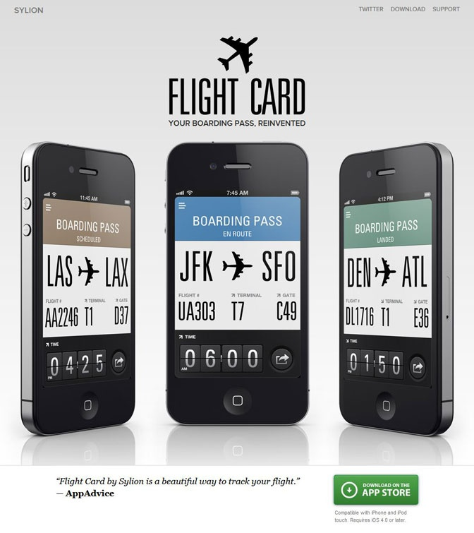 Mobile site landing page
