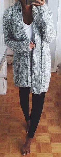 #fall #fashion / gray knit _________ http://TOMAxALEX.com