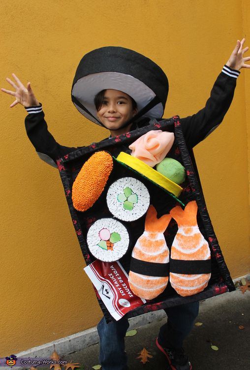 Kirsten: This costume is being worn by my oldest son. My son loves to draw and one of his favorite subjects to draw is food. Not just ordinary food but food...