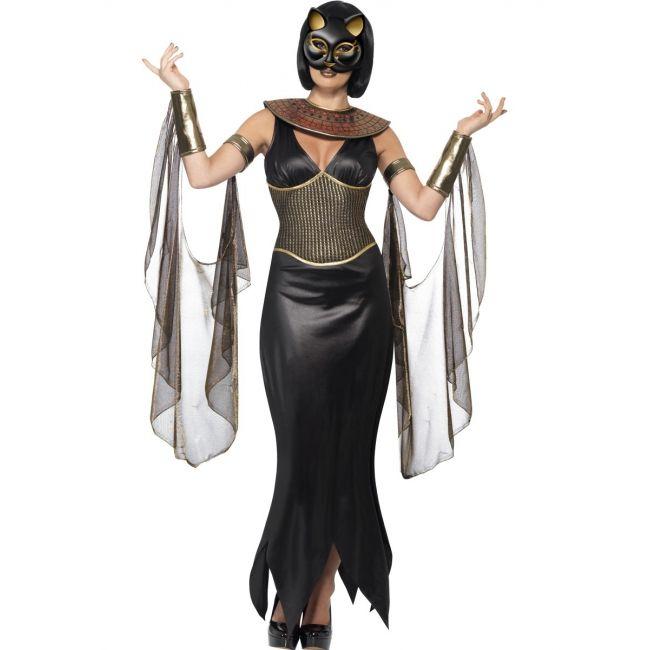 Egypte Bastet kostuum voor dames  Egyptische godin Bastet kostuum voor dames. Godin Bastet kostuum voor dames. Het Egyptische kostuum bestaat uit een jurk met kraag lange mouwen en masker.  EUR 59.95  Meer informatie