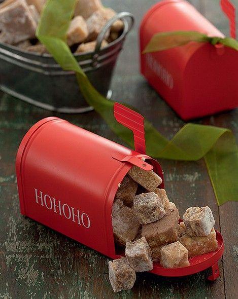 Palha italiana de sabores variados da Bendicta Palha decorar a caixinha de correio #christmas #natal #navidad | Christmas decor