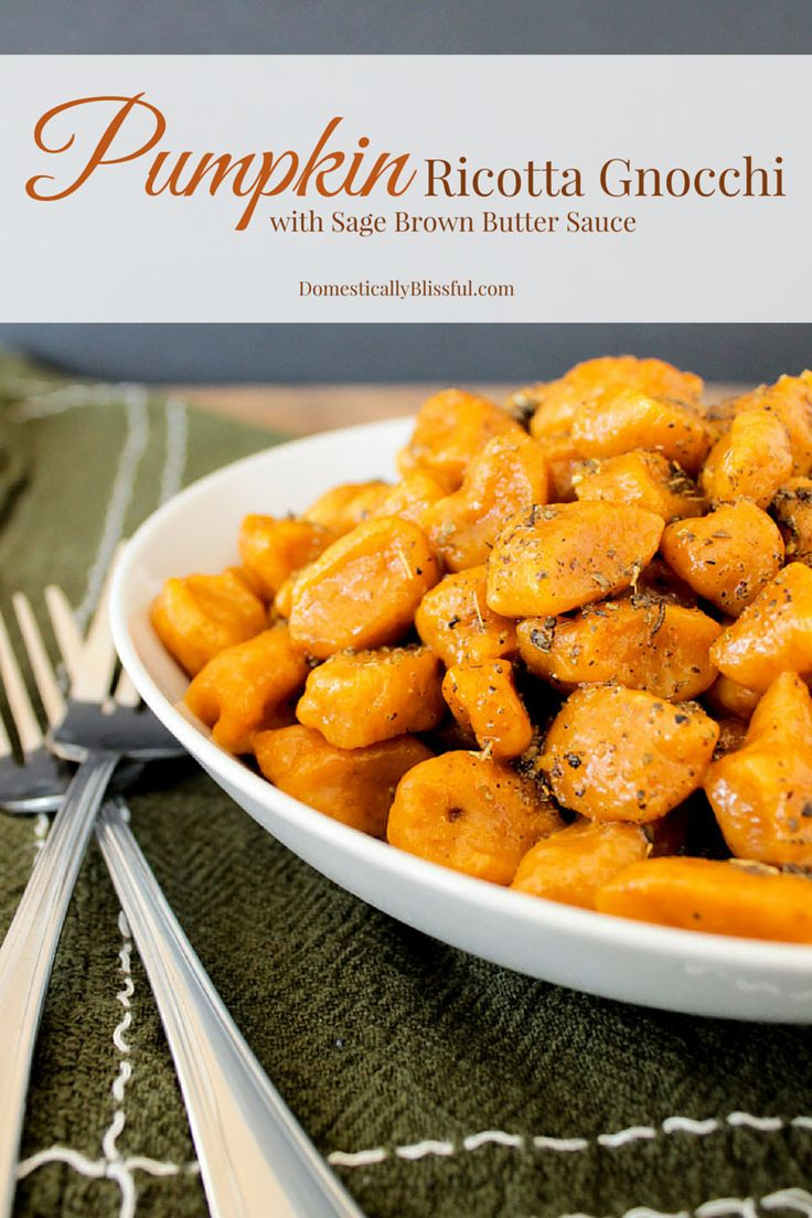 Pumpkin Ricotta Gnocchi with Sage Brown Butter Sauce | Recipe ...