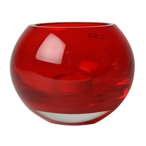 red candle holders
