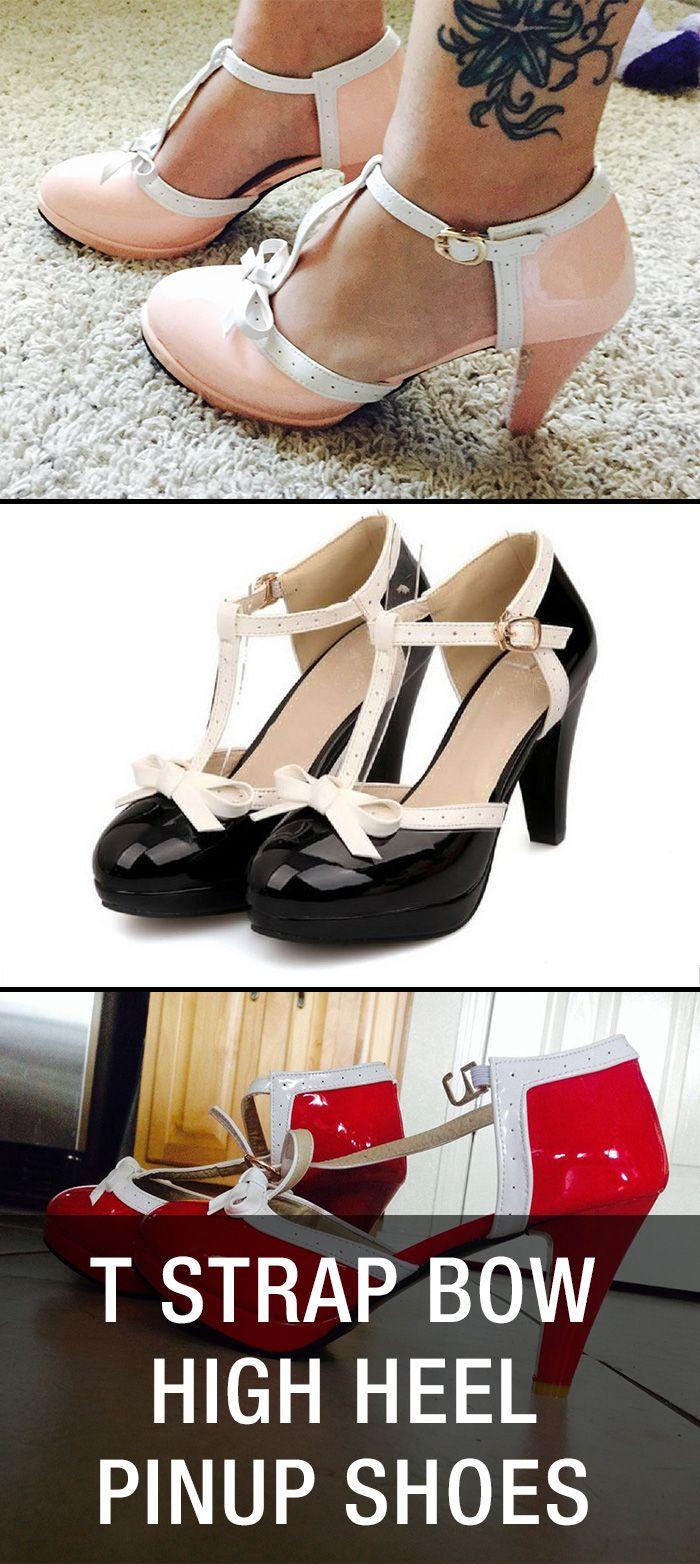 T Strap Bow High Heel  Pin Up Rockabilly Shoes: http://www.amazon.com/gp/product/B018NAVFGQ/ref=as_li_tl?ie=UTF8&camp=1789&creative=9325&creativeASIN=B018NAVFGQ&linkCode=as2&tag=rockabillyclothes-20&linkId=JDICRXE77KJQT35I