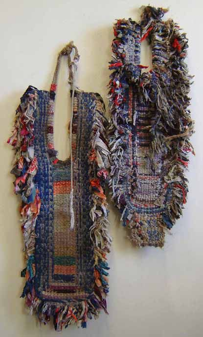 Japan - woven mats for protecting the back from heavy loads - made from shredded cotton cloth, via sri threads