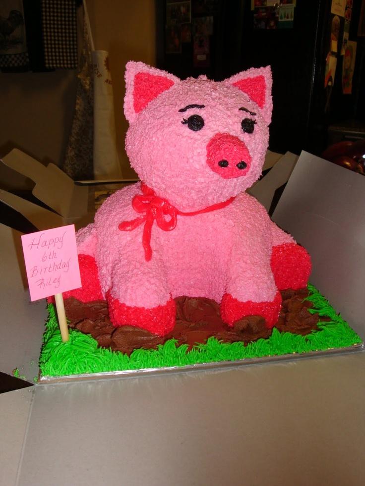 Pig Cake For My Niece Piggy Cake Cake Pancake Party