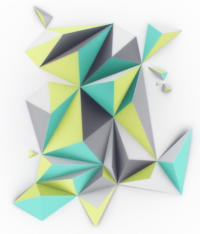 die besten 25 3d origami wanddeko ideen auf pinterest kirigami anleitung falten 3d origami. Black Bedroom Furniture Sets. Home Design Ideas
