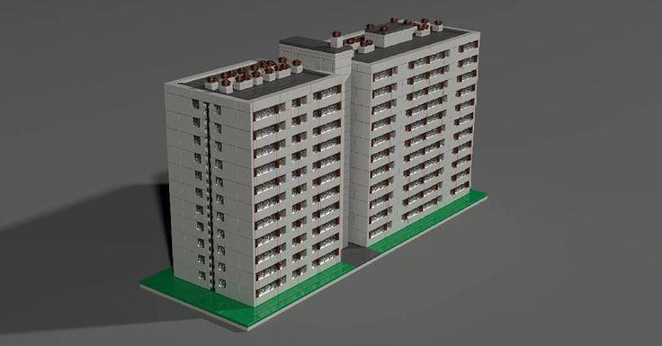 Larsen-Nielsen panel közepes méretben #bricks #microscale #afol #moc #blockofflats #panelhaz #legoart #legos #architecture #draw.io #povray #danpanel #tizemeletes #legodesign #lakotelep #legotelep #microdistrict #hu #hungarian #hungary #ferencvaros #budapest #ujpest #zuglo