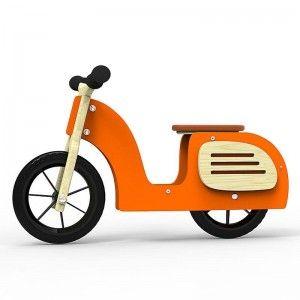 Drewniany skuter biegowy