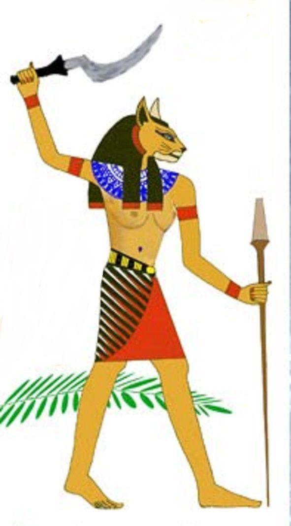 Mafdet Era Una Diosa Egipcia Representada Como Un Felino Cuya