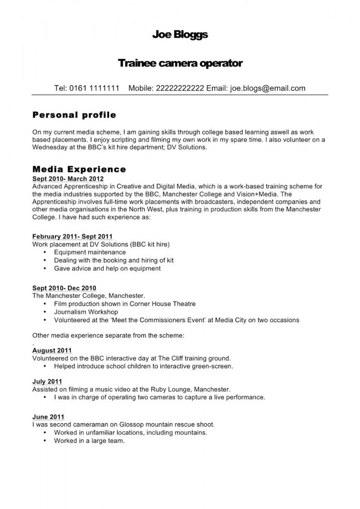 Profile Sample Resume Sample Resume And Free Resume Templates