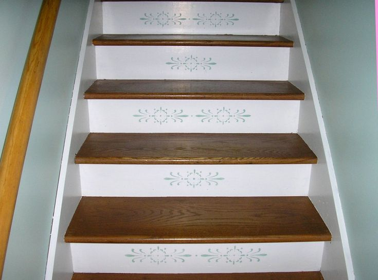 Wonderful Stenciled Stair Risers | Stenciled Stair Risers