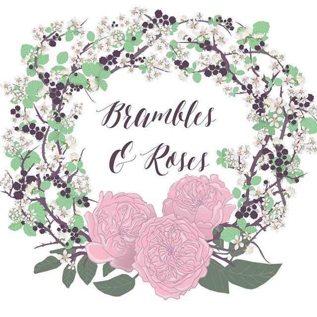 I loved creating this intricate logo for @bramblesandroses, you can see the process in my other pictures. #torielliottillustration #toridraws  www.torielliott.co.uk #illustration #logo #graphicdesign #logodesign #florist #floristlogo #bramblesandroses #brambles #roses #devonflorist #devonweddingflorist
