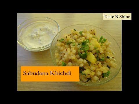 Sabudana Khichdi recipe - Sago Khichdi - Tapioca Pearls - Maharashtrian ...