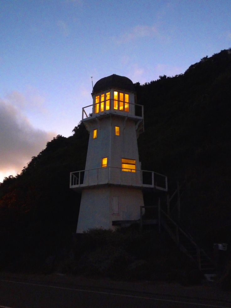 Unique lighthouse. Great views over Cook Strait. NZ