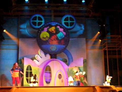 Disney World Florida, USA - Playhouse Disney's Mickey Mouse Clubhouse. A live Mickey Mouse show.