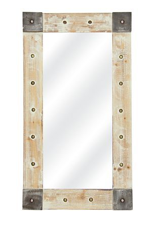 "This industrial washed mirror will make any add interest to a living space. Measures 50x90cm.<div class=""pdpDescContent""><BR /><b class=""pdpDesc"">Dimensions:</b><BR />L50xW2.5xH90 cm</div>"