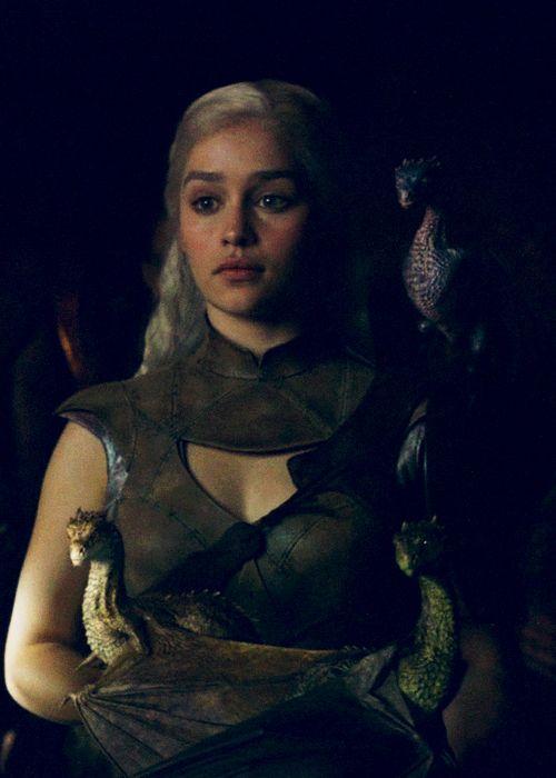 Daenerys Targaryen from Game of Thrones  @Lia Escudero Dragons!!!