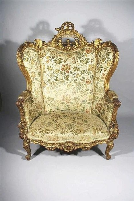 French rococo style carved giltwood marquise in the for French rococo style