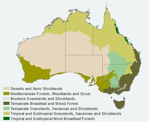 Australia's eco regions with videos