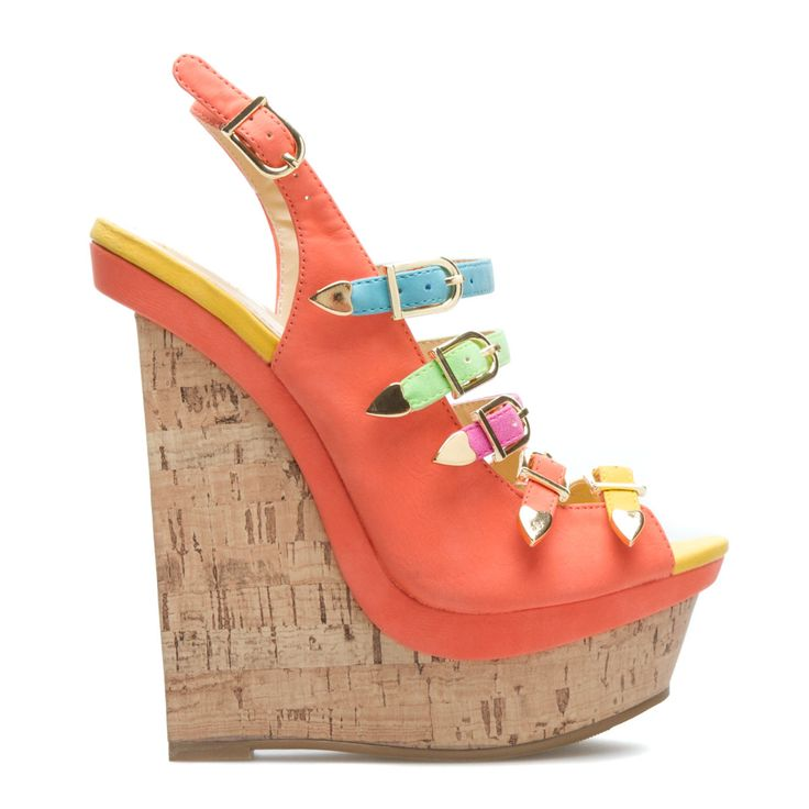 Satisfy your sweet tooth with this candy-colored sandal by Beau+Ashe. Astrid's summery straps complement an earthy cork-inspired wedge.