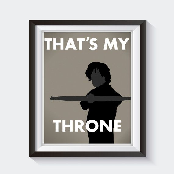 Tyrion Lannister Bathroom Print Funny Game of by StickTreePrints