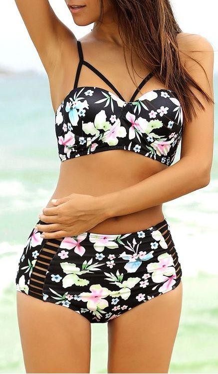 retro floral bikini