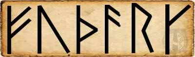 Runas - Fé - Alfabeto Futhark escandinavo primer  Aett